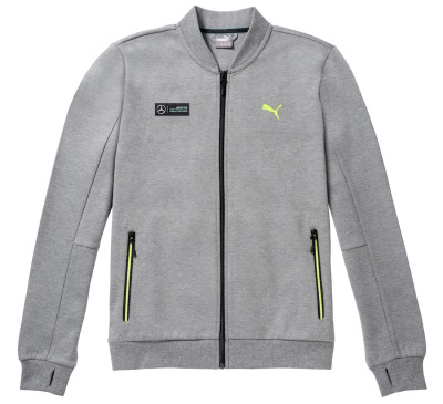 Мужская толстовка Mercedes AMG Petronas Men's Sweat Jacket, Grey