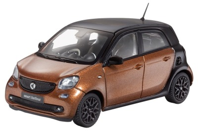 Модель Smart Forfour Prime, Scale 1:43, Black / Hazel Brown