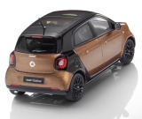 Модель Smart Forfour Prime, Scale 1:43, Black / Hazel Brown, артикул B66960295