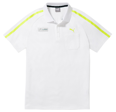Мужская футболка поло Mercedes AMG Petronas Men's Polo Shirt, White