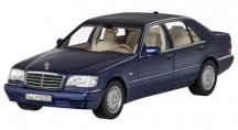 Модель Mercedes-Benz S 500 L, V140, 1994-1998, Azurite Blue, 1:18 Scale
