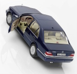 Модель Mercedes-Benz S 500 L, V140, 1994-1998, Azurite Blue, 1:18 Scale, артикул B66040632
