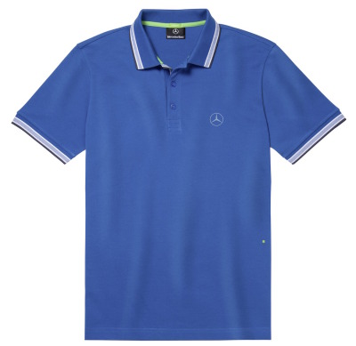 Мужская футболка поло Mercedes-Benz Men's Polo Shirt, Hugo Boss, Royal Blue