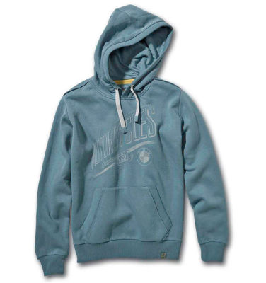 Мужская толстовка BMW Motorrad Men's Hooded Sweatshirt, Vintage Petrol, Grey-Blue