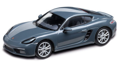 Модель автомобиля Porsche 718 Cayman (982), Graphite Blue Metallic, Scale 1:43