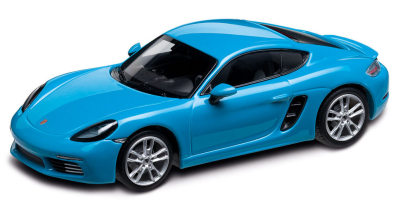 Модель автомобиля Porsche 718 Cayman S (982), Miami Blue, Scale 1:43
