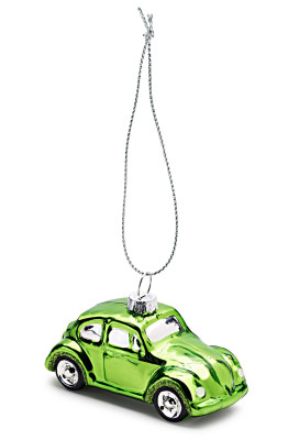Елочная игрушка Volkswagen Decoration Christmas Green Beetle