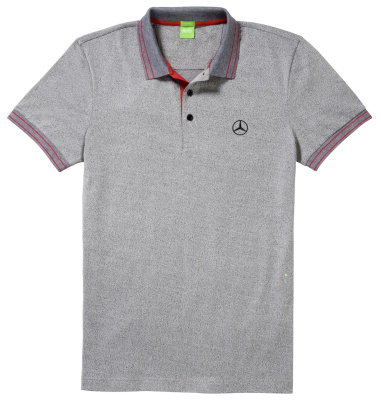 Мужская футболка поло Mercedes-Benz Men's Polo Shirt, Boss Green, Grey