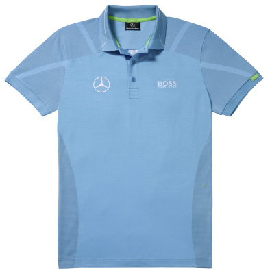 Мужская футболка поло Mercedes-Benz Men's Polo Shirt, Boss Green, Turquoise
