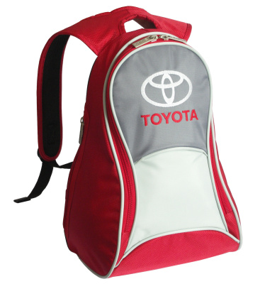 Рюкзак Toyota Slim Backpack, Red-Grey