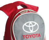 Рюкзак Toyota Slim Backpack, Red-Grey, артикул 01100225