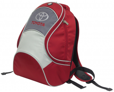 Рюкзак Toyota City Backpack, Red-Grey