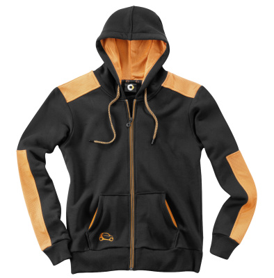 Мужская толстовка Smart Men's Sweat Jacket, Black / Orange