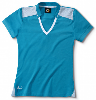 Женская футболка поло Smart Women's Polo Shirt, Turquoise / White