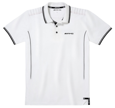 Мужская футболка поло Mercedes AMG Men's Polo Shirt, White / Grey