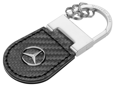Брелок Mercedes-Benz Key Ring Shanghai, Carbon Leather, Black