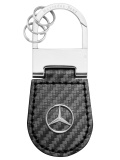Брелок Mercedes-Benz Key Ring Shanghai, Carbon Leather, Black, артикул B66958324