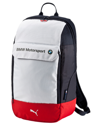 Рюкзак BMW Motorsport Backpack, White-Team Blue-High Risk Red