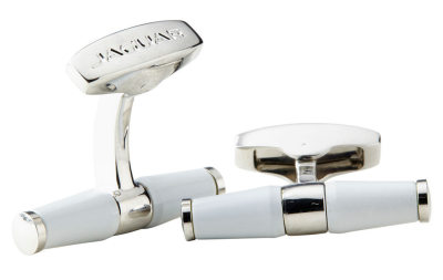 Запонки Jaguar Bar Cufflinks White