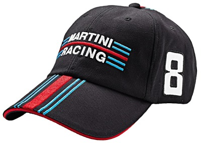 Бейсболка Porsche Baseball Cap Martini Racing, Black