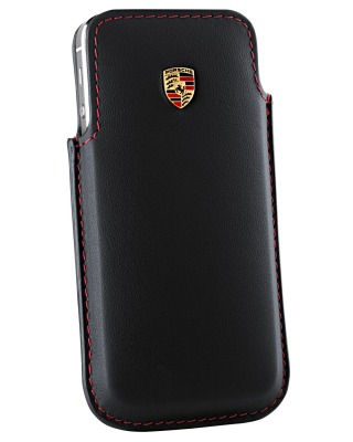 Кожаный чехол для iPhone 5 Porsche Case for iPhone 5, Black