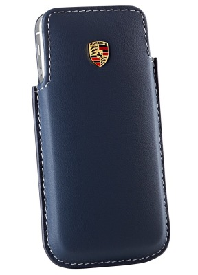 Кожаный чехол для iPhone 5 Porsche Case for iPhone 5, Yachting blue