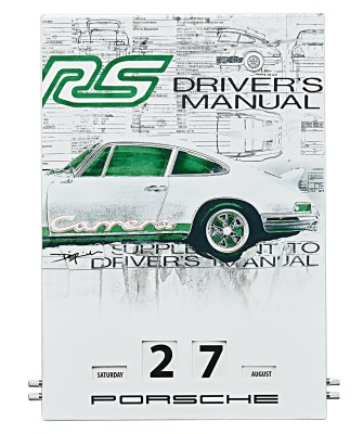 Вечный календарь Porsche Enamel Calendar RS 2.7 Collection - Limited Edition