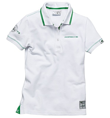 Женское поло Porsche Women's Polo Shirt, RS 2.7 Collection, White - Viper green