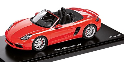 Модель автомобиля Porsche 718 Boxster S (982), Limited Edition, Scale 1:18, Lava Orange