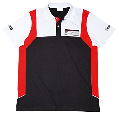 Мужская рубашка поло Porsche Men's polo shirt – Motorsport Collection, Black-White-Red