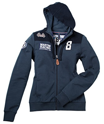 Женская толстовка Porsche Women's Sweat Jacket Martini Racing, Dark Blue