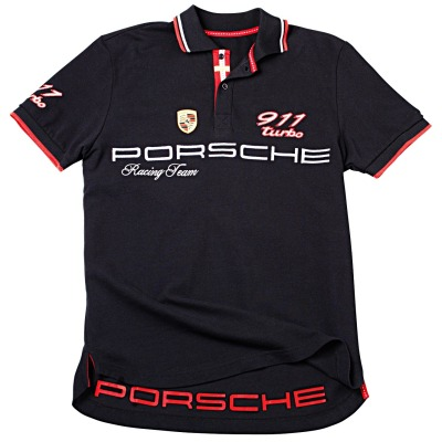 Мужское поло Porsche Men's Polo Shirt 911 Turbo, Racing Team