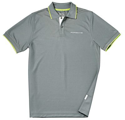 Мужское поло Porsche Men's Polo Shirt Sport, Grey-Green