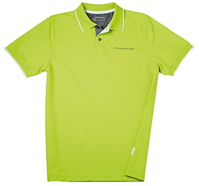 Мужское поло Porsche Men's Polo Shirt Sport, Acid Green