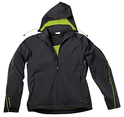 Мужская куртка Porsche Men's Jacket Sport, Black/Acid Green