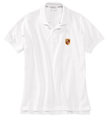Мужская рубашка-поло Porsche Men's Polo Shirt, Logo, White