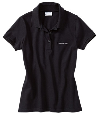 Женское поло Porsche Porsche Women's Polo Shirt, Pure Black