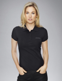 Женское поло Porsche Porsche Women's Polo Shirt, Pure Black, артикул WAP7450XS0B