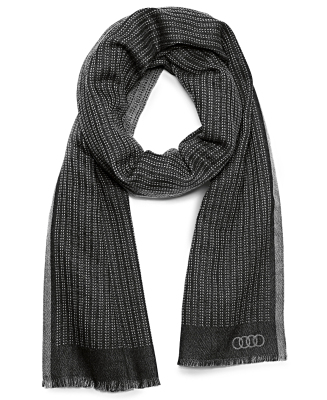 Шерстяной шарф Audi Wool scarf by PZero, black/grey