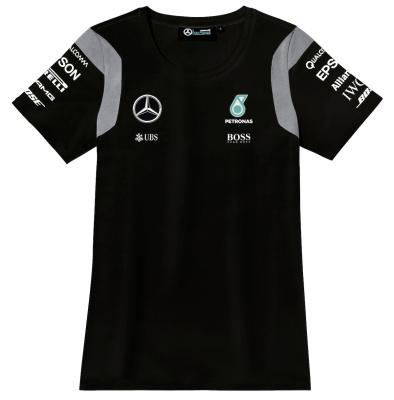 Женская футболка Mercedes-AMG Petronas F1 Women's Driver T-shirt, Black
