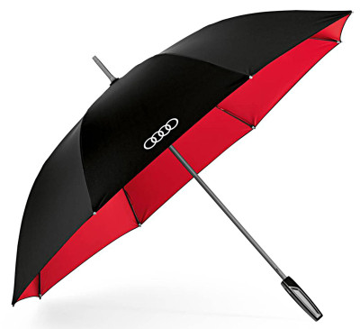Зонт-трость Audi Stick Umbrella, big, black/red