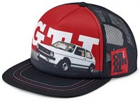 Бейсболка Volkswagen GTI 1976 Baseball Cap, Black/Red