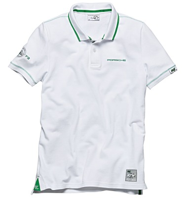 Мужское поло Porsche Polo Shirt Men's - RS 2.7 Collection, White