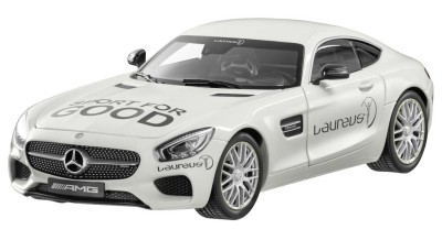 Модель Mercedes-AMG GT S, Laureus, designo diamond white bright, 1:18 Scale
