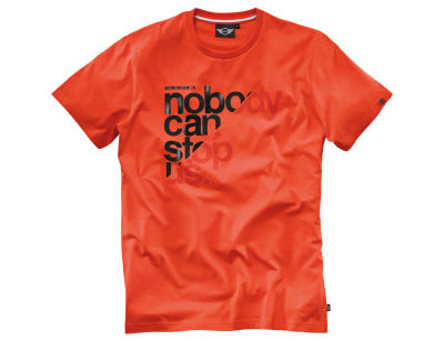 Мужская футболка Mini Men's T-Shirt, Unstoppable, Orange