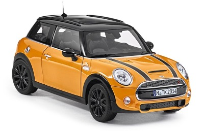 Модель автомобиля Mini Hatch Cooper S (F56), Volcanic Orange, Scale 1:18