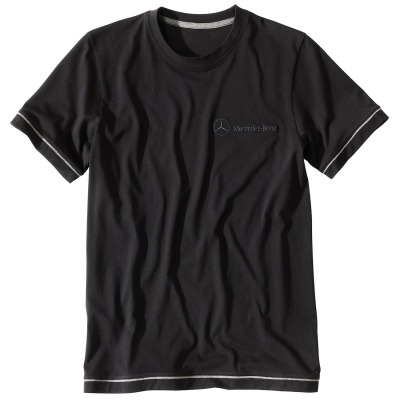 Мужская футболка Mercedes Men's T-shirt, black/grey elements