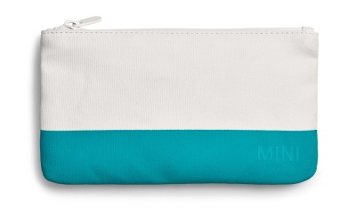 Косметичка Mini Pouch Small Colour Block, White/Aqua