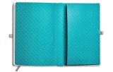 Блокнот MINI Notebook Colour Block, Grey/Aqua, артикул 80242445692
