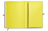 Блокнот Mini Notebook Colour Block, Grey/Lemon, артикул 80242445693
